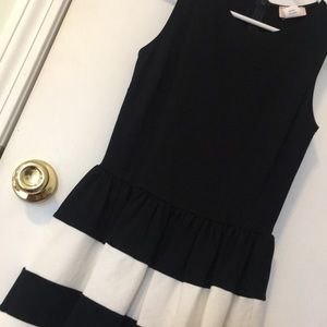 Dresses & Skirts - Nordstrom fit and flare black white stripe dress S